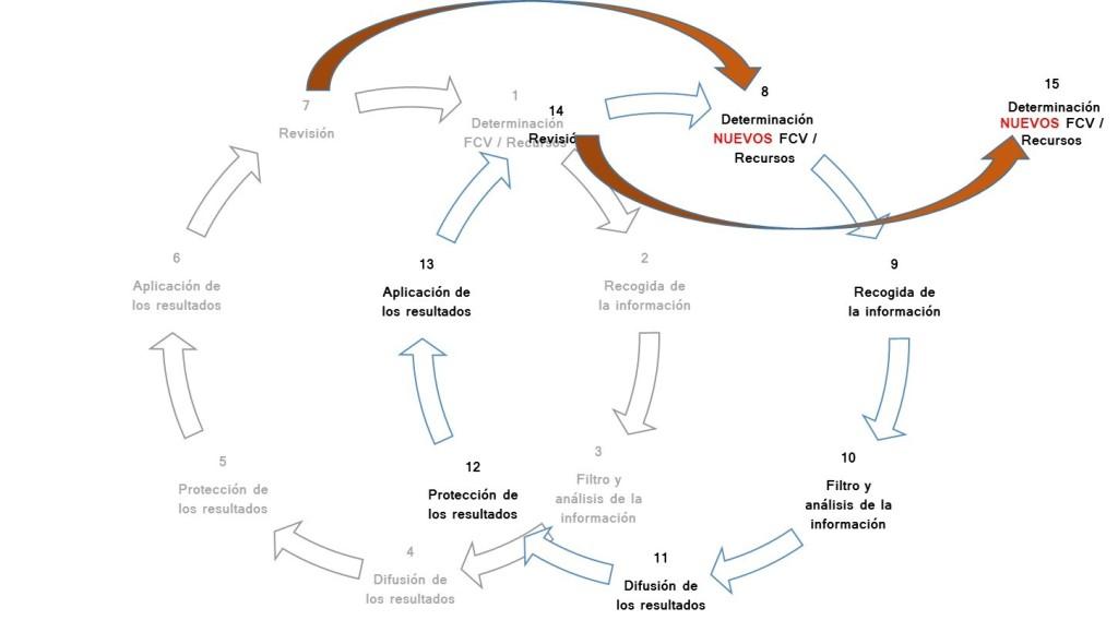 la espiral del ciclo de la inteligencia competitiva