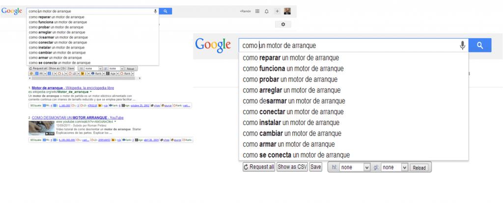 la busqueda de google autocomplete