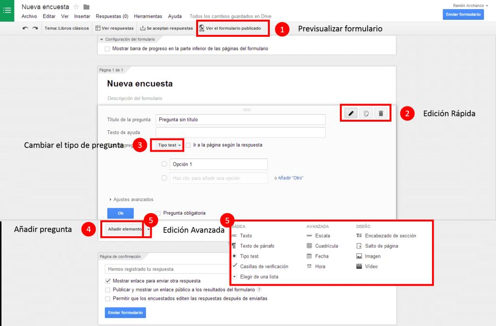 Diseñar formulario