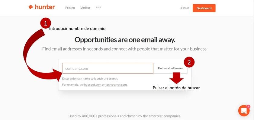buscador correos electrónicos