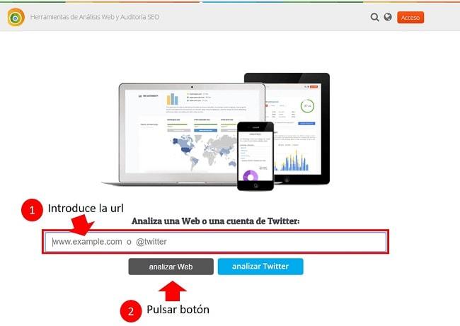 cómo analizar una página web