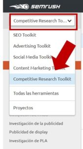 semrush competitive research tool